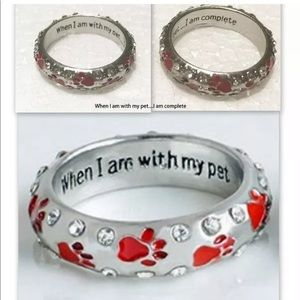 Jewelry - Red pet lover ring